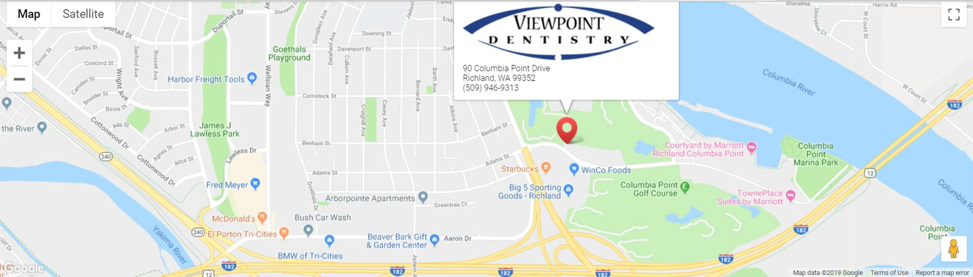 Map of location of Viewpoint Dentistry